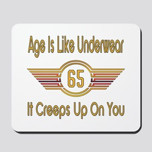 Funny 65th Birthday Mousepad