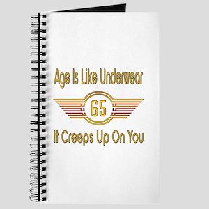 Funny 65th Birthday Journal