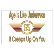 Funny 65th Birthday Large Poster