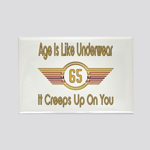 Funny 65th Birthday Rectangle Magnet