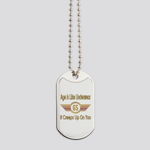 Funny 65th Birthday Dog Tags