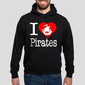 I Love Pirates Hoodie (dark)