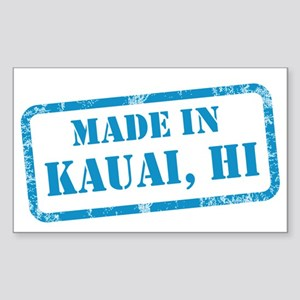 MADE IN KAUAI Sticker (Rectangle)