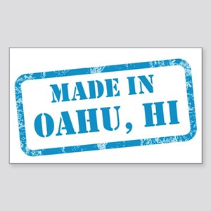 MADE IN OAHU Sticker (Rectangle)