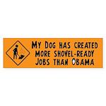 Shovel Ready Jobs Sticker (Bumper)