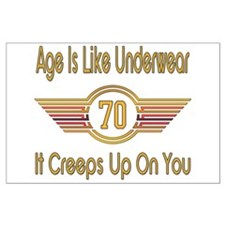 Funny 70th Birthday Large Poster