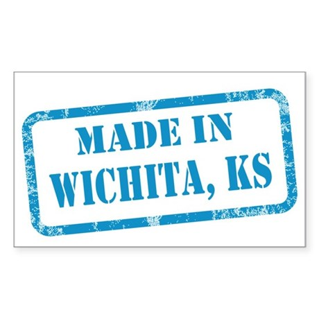 MADE IN WICHITA Sticker (Rectangle)