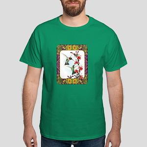 Hummingbirds and Flowers #5 Dark T-Shirt