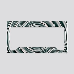 Silver Circles License Plate Holder
