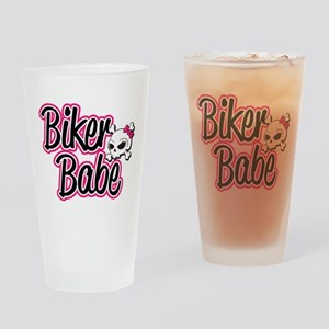 Biker Babe Drinking Glass