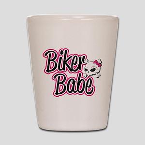 Biker Babe Shot Glass