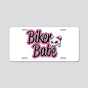 Biker Babe Aluminum License Plate