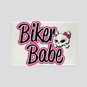 Biker Babe Rectangle Magnet