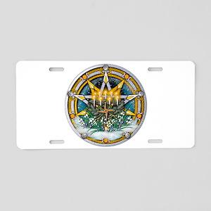 Imbolc Pentacle Aluminum License Plate