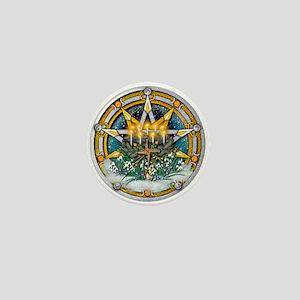 Imbolc Pentacle Mini Button