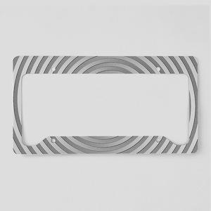 Silver Spiral License Plate Holder