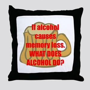 Memory loss Throw Pillow
