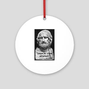 Euripides Stone Quote Ornament (Round)