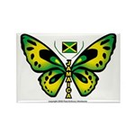 Jamaica Butterfly Rectangle Magnet
