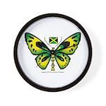 Jamaica Butterfly Wall Clock