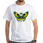 Jamaica Butterfly White T-Shirt