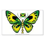 Jamaica Butterfly Rectangle Sticker
