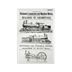 Richmond Locomotive Works Rectangle Magnet (10 pa