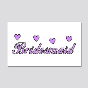 Bridesmaid Hearts 22x14 Wall Peel