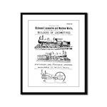 Richmond Locomotive Works Framed Panel Print