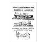 Richmond Locomotive Works Postcards (Package of 8
