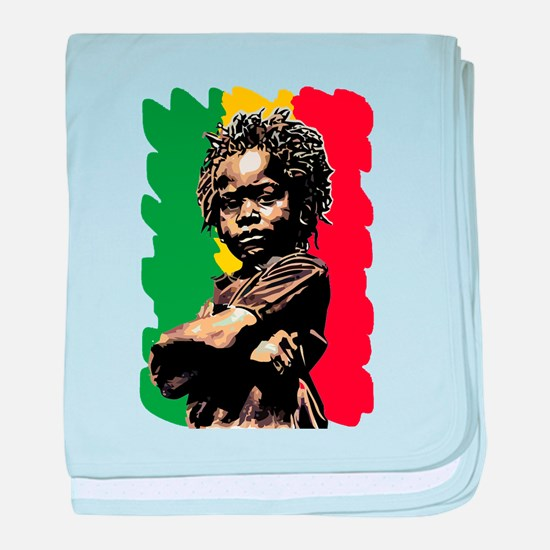 Rasta Child baby blanket