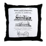 Richmond Locomotive Works Throw Pillow