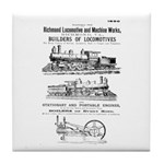 Richmond Locomotive Works Tile Coaster