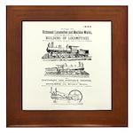 Richmond Locomotive Works Framed Tile