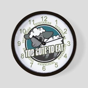 Too Cute to Eat Sheep Wall Clock