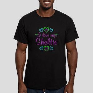 Love My Sheltie Men's Fitted T-Shirt (dark)