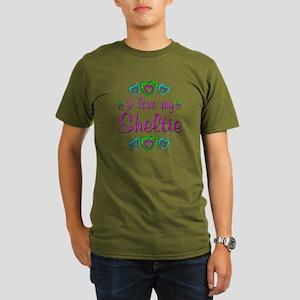Love My Sheltie Organic Men's T-Shirt (dark)