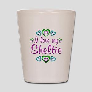 Love My Sheltie Shot Glass