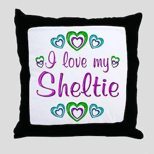 Love My Sheltie Throw Pillow