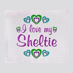 Love My Sheltie Throw Blanket