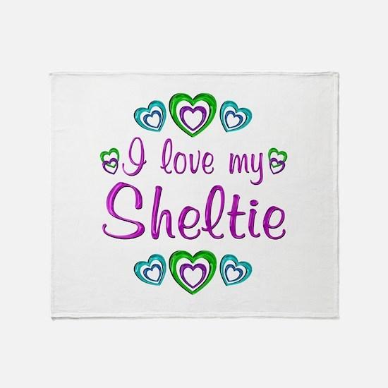 Love My Sheltie Throw Blanket