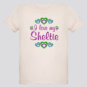 Love My Sheltie Organic Kids T-Shirt