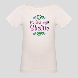 Love My Sheltie Organic Baby T-Shirt
