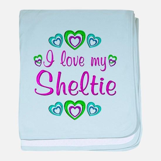 Love My Sheltie baby blanket