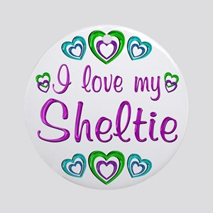 Love My Sheltie Ornament (Round)