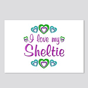 Love My Sheltie Postcards (Package of 8)