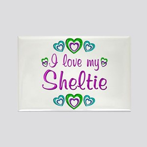 Love My Sheltie Rectangle Magnet