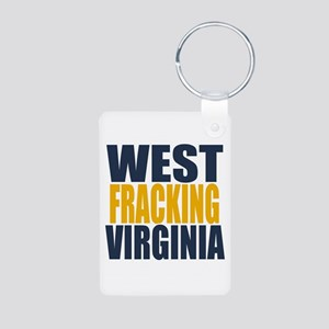 West Fracking Virginia Aluminum Photo Keychain