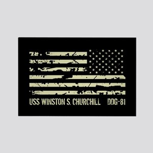 USS Winston S. Churchill Rectangle Magnet