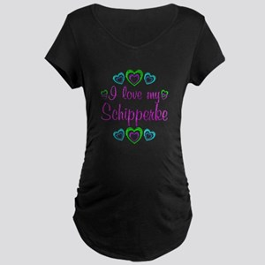Love My Schipperke Maternity Dark T-Shirt